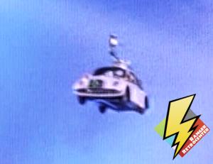 The RADBUG flies to the Command Center