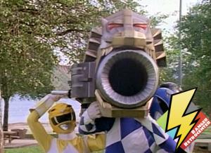 Three Rangers summon the Power Cannon
