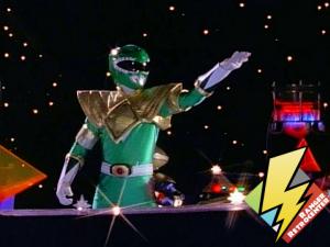 Green Ranger enters the Command Center