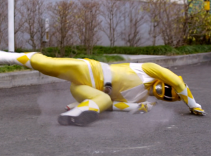 Super Megaforce Yellow defeated