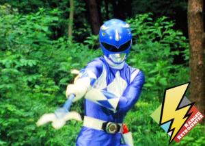 Blue Ranger summons the Power Lance