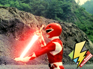 Red Ranger charges the Power Sword