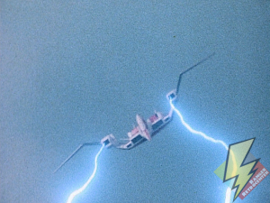 Pterodactyl energy cannons firing