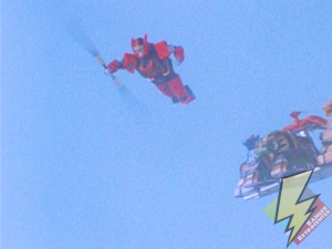 Red Dragon leaping from the Assault Team