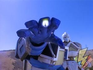 Blue Shogunzord finger missile