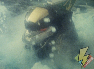 Dragonzord rises from the ocean