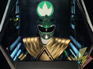 Green Ranger in the Dragonzord cockpit