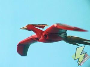 Firebird soaring through the sky