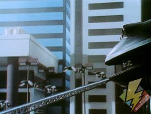 Frog Ninjazord deploying minizords