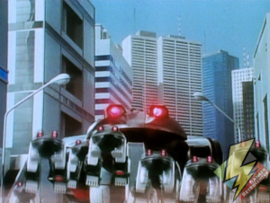 Frog minizords on the march