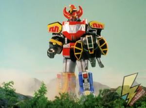 Megazord holding the Mammoth shield