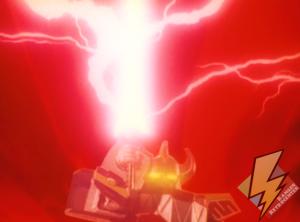 Megazord charging the Power Sword
