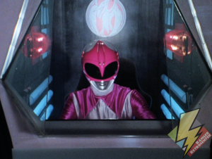 Pink Ranger in the Pterodactyl cockpit