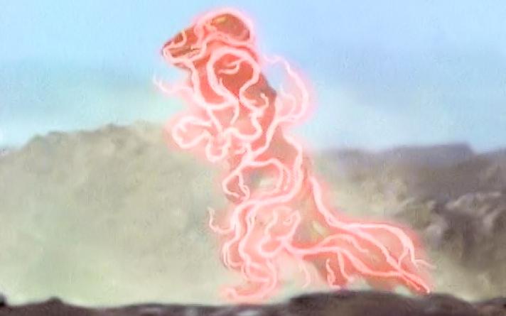 Tyrannosaurus morphing into Red Dragon