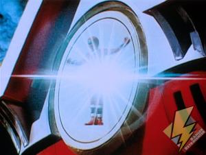 Red Alien Ranger activating the Shogunzord