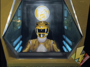 Yellow Ranger in the Saber-toothed tiger