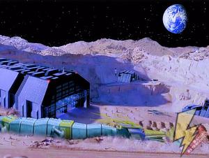 Serpentera buried on the moon