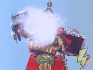 Thunder Megazord smoke attack