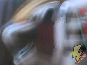 Tigerzord running at hyperspeed