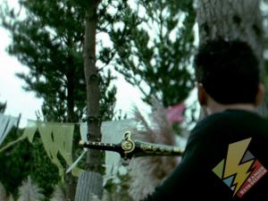 Dragon Dagger embedded in a tree