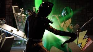 Green Ranger using the Master Morpher