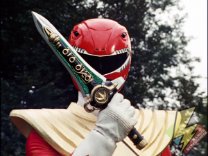 Red Ranger with the Dragon Dagger