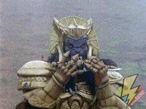 Goldar summons the Dragonzord