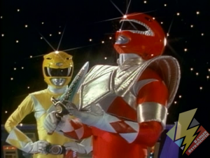 Red Ranger inherits the Dragon Shield