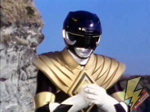 Black Ranger equipped with the Dragon Shield
