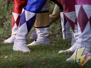 The Metallic Armor also protected their boots