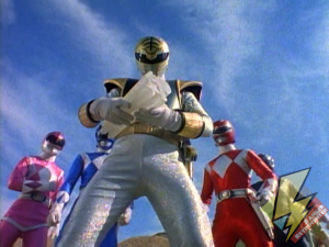 The Rangers prepare to shatter the Zeo Crystal