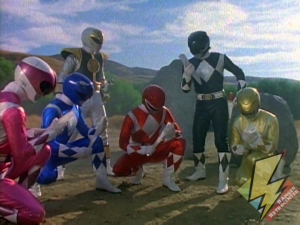 The Rangers pick up the Zeo Crystal shards