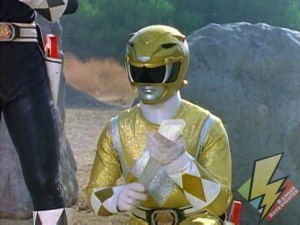 Yellow Ranger with a Zeo Crystal shard