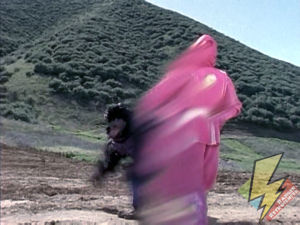 Pink Ninja Ranger's flash move