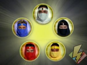 The Rangers part transformed into Ninja Rangers