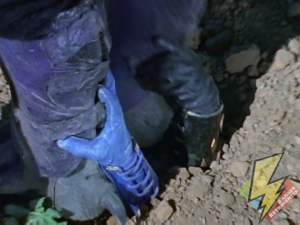 Blue and Black Ninja Rangers beneath the ground