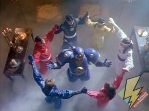 The Rangers gain Ninja power from Ninjor