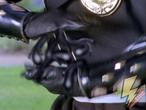 Black Ninja Ranger summoning laser power